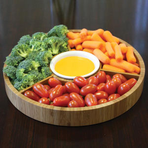 Gourmet bamboo 2-piece serving