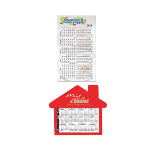 Calendar magnet made from
