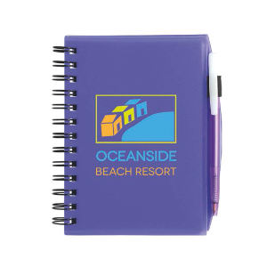Plastic cover notebook with