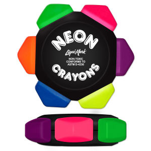 Six Color Neon Crayon
