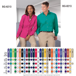 Promotional Button Down Shirts-BG-8213T