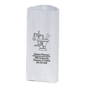 White Pharmacy paper bag