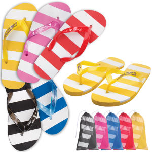 Customizable, adult-sized flip flops