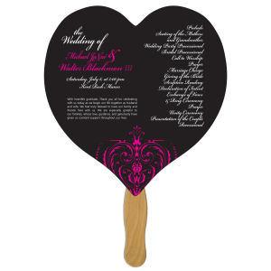 Heart shaped fan, material