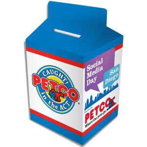 Custom designed milk carton
